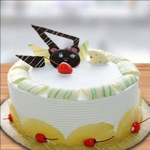 Pineapple Cake Half Kg - Birthday Gifts Online