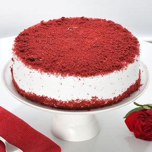 Red Velvet Cake 1kg - Online Cake Delivery in India