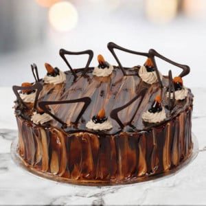 Online Coffee Almond Cake 1kg - Online Cake Delivery in Karnal