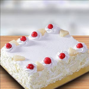 Sweet Pineapple Jinx Cake Half Kg - Online Cake Delivery in Karnal