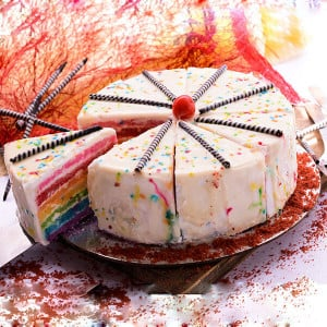 Rainbow Cake - Send Wedding Cakes Online
