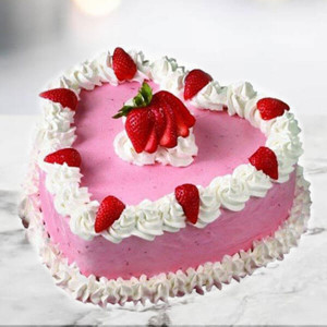 Online Cherry Strawberry Cake (1 Kg) - Online Cake Delivery In Pinjore