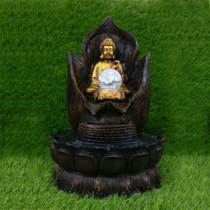 Resin Buddha Water Fountain Indoor - Send Gifts to Mohali