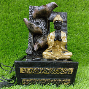 Resin Buddha Monk Water Fountain Indoor - Send Gifts to Mohali