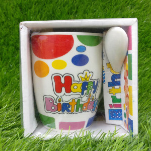 Happy Birthday Ceramic Mug - Send Gifts to Mohali
