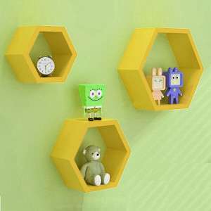 Yellow Diamond Separator Wall Shelf - Send Gifts to Mohali