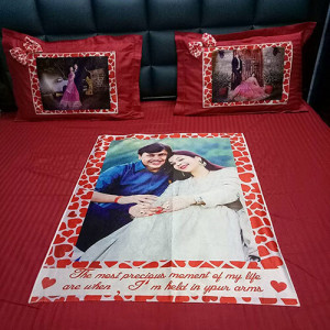 Personlaized Bed Sheet - Send Gifts to Mohali