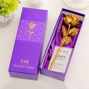 24K Golden Rose - Online Christmas Gifts Flowers Cakes
