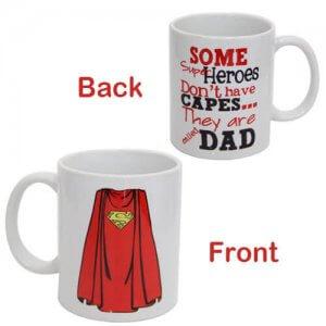 Superhero Dad Ceramic Mug - Online Gifts