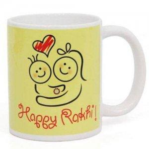 Rakhi Ceramic Mug - Online Gifts