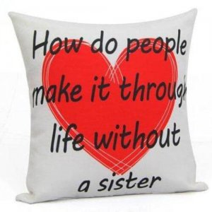 Love U Sister Cushion - Online Gifts