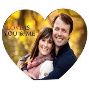 Personalized Heart Frame - Photo Frames
