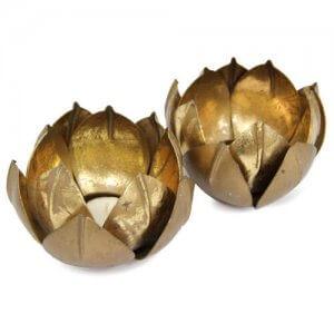 Metallic T-Light Holder - Online Gifts
