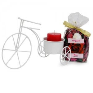 Cycle Candle Holder And Potpourri - Online Home Decor Items