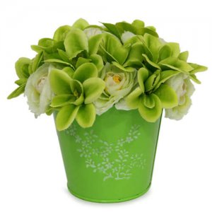 The Green Flower Arrangement - Artificial Flowers Arrangement Online