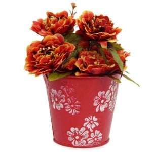 Artificial Flower Bucket - Artificial Flowers Arrangement Online