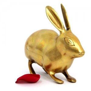 Brass Rabbit Showpiece