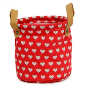 Red Heart Bag Planter - Online Gifts