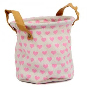 Pink Heart Bag Planter