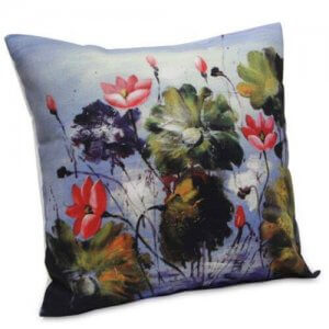 Abstract Flora Cushion