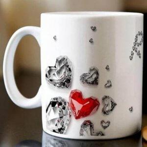 Personalised Mug - Diamonds - Mugs