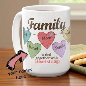 Personalize Family Mug - Anniversary Gifts for Husband
