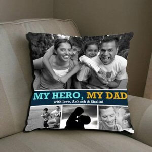 My Dad My Hero Greeting Card - Send Personalised Cushions Online