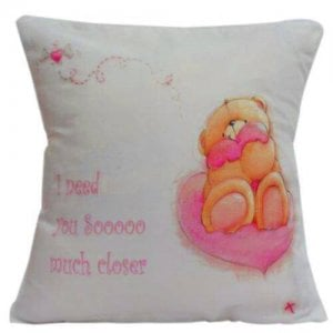 Cute Teddy Cushion - Kiss Day Gifts Online