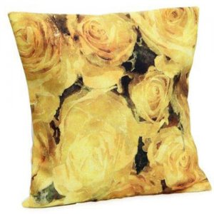 Flower Print Cushion - Cushion