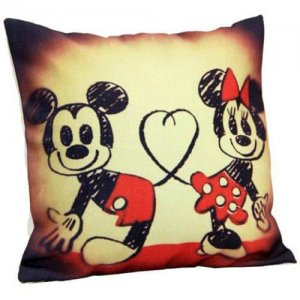 Mickey N Minnie Cushion - Hug Day Gifts Online
