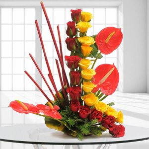 Modern Basket | Online Flower Delivery - Birthday Gifts Online