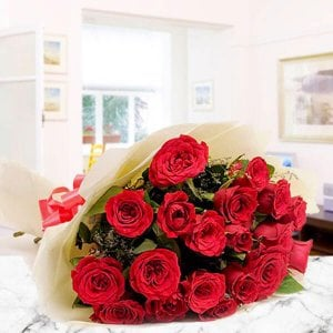 Roses And Love 25 Red Roses Online from Way2flowers - Rose Day Gifts Online
