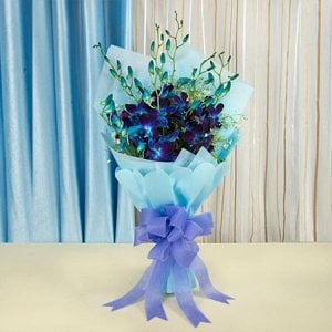 Bunch Of 6 Orchids - Flower Bouquet Online