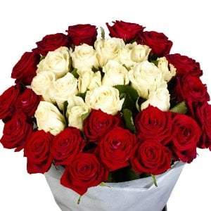 Big Hug 50 Red Yellow Roses Online from Way2flowers