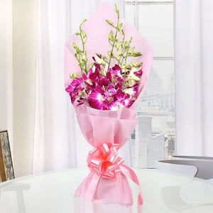 In Love 6 Purple Orchids Online - Buy Orchids Online in India