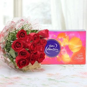 Roses & Celebration - Chocolate Day Gifts