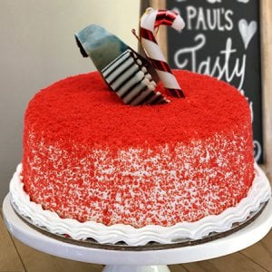 Red Velvet Round Cake - Cake Delivery in Chandigarh