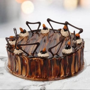 Online Coffee Almond Cake 1kg - Online Cake Delivery In Ludhiana