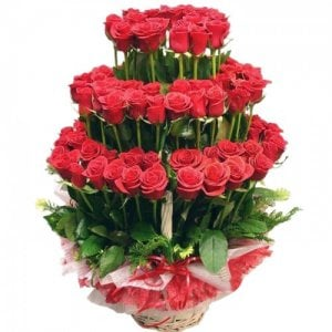 3 layer Basketfrom Way 2 Flowers - Same Day Delivery Gifts Online