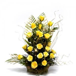 Sunshiny Days - Flower Basket Arrangements Online