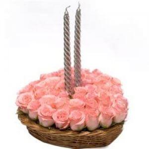 Pink Always Perfect - Flower Basket Arrangements Online
