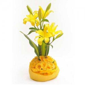 Celebrate Love - Flower Basket Arrangements Online