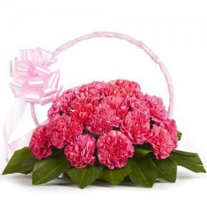 Memorable Moments 20 Pink Carnations Online from Way2flowers - 5th Anniversary Gifts