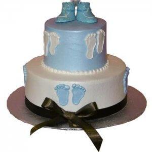 Round Baby Shower Cake - Send Baby Shower Cakes Online