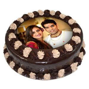 Choco Photo Cake 1 Kg - Online Cake Delivery - Send Personalised Photo Cakes Online