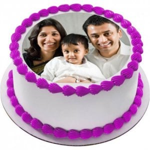 Personalised Delicious Cake 1 Kg - Online Cake Delivery - Send Personalised Photo Cakes Online