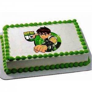 Ben 10 Photo Cake - Send Baby Shower Cakes Online