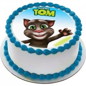 Talking Tom Cat Photo Cake - Online Cake Delivery - Send Personalised Photo Cakes Online