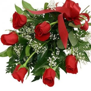 Bunch Of 6 Red Roses Online from Way2flowers