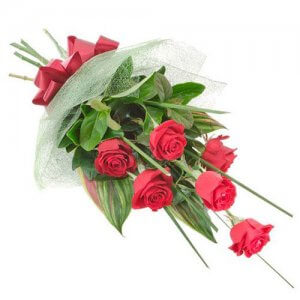 Love U Softy 6 Red Roses - Flower Bouquet Online